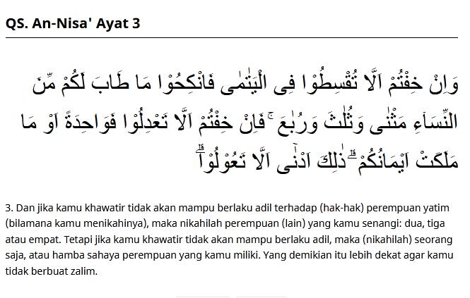 an nisa ayat 3
